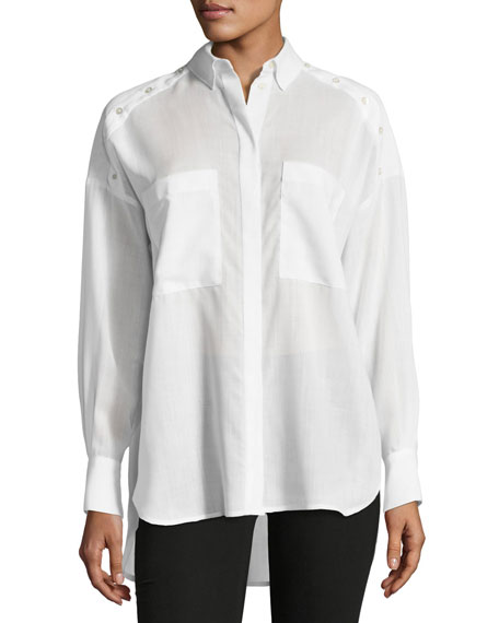 Bocka Button-Down Long-Sleeve Wool Shirt