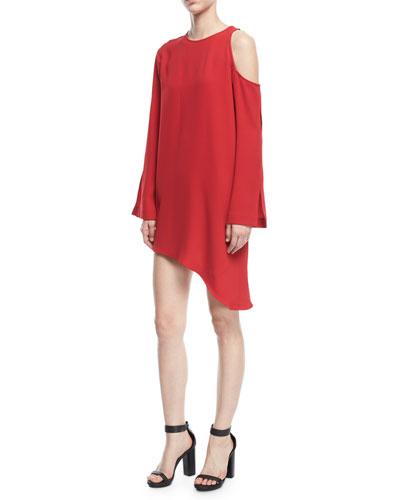 Awati Cutout-Shoulder Shift Dress