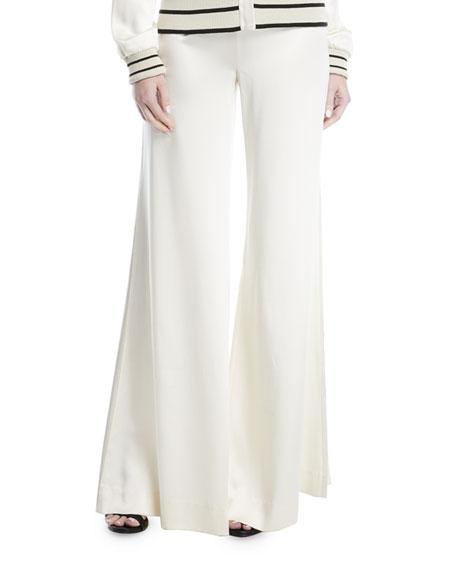 Hilary Wide-Legs Silk Pants