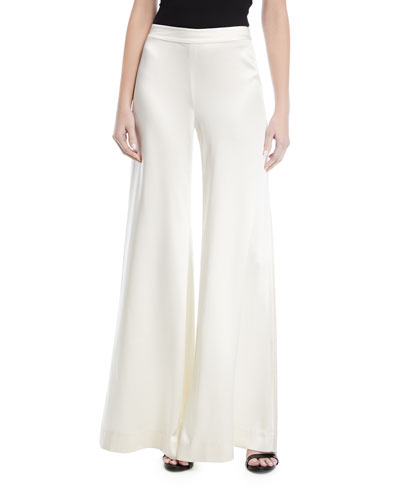 Hilary Wide-Legs Silk Pants