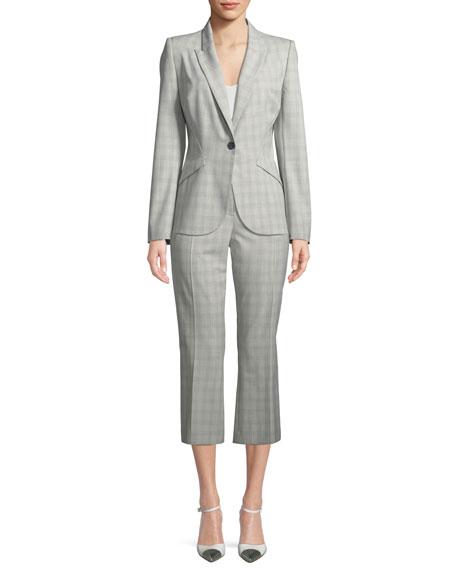 Lisa Micro Plaid Crop Pants