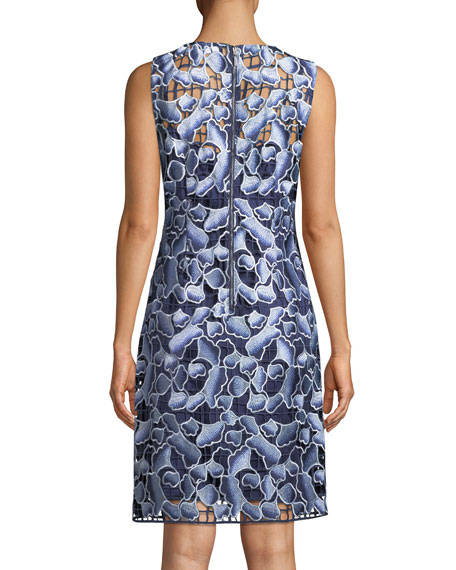 Biebra Floral-Lace Shift Dress
