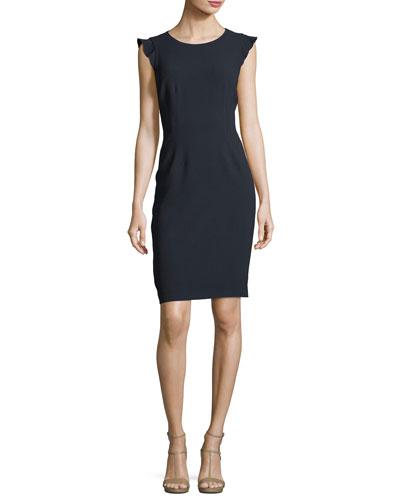 Stefana Cap-Sleeve Sheath Dress
