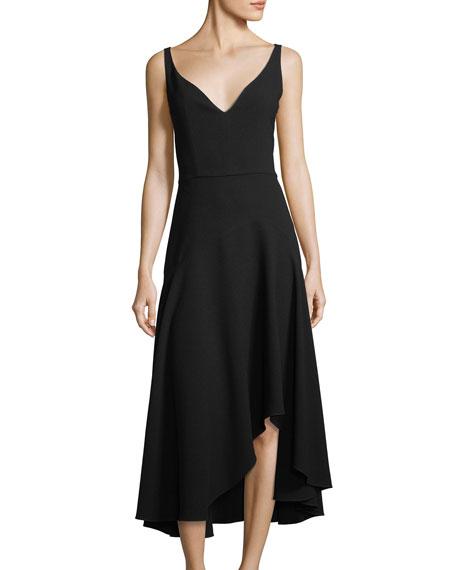 Susie Asymmetric-Hem A-Line Dress