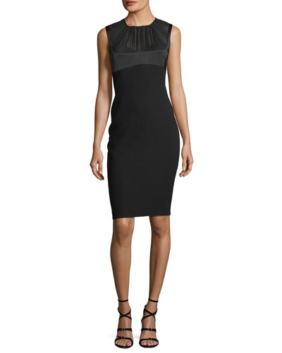 Tutti Georgette-Yoke Sheath Dress