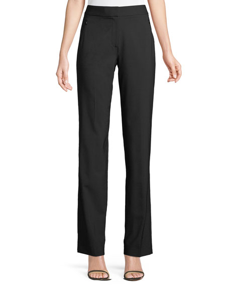 Leena Split-Cuff Wool-Blend Pants