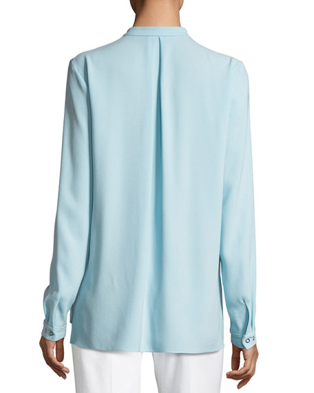 Riri Pleated-Bib Blouse