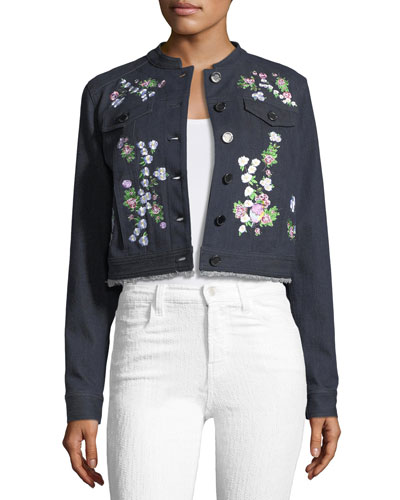 Meggy Embroidered Denim Jacket