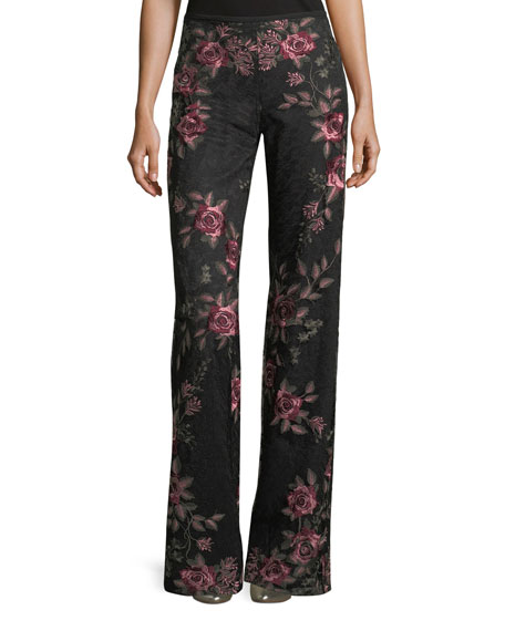 Bachata Wide-Leg Back-Zip Pants