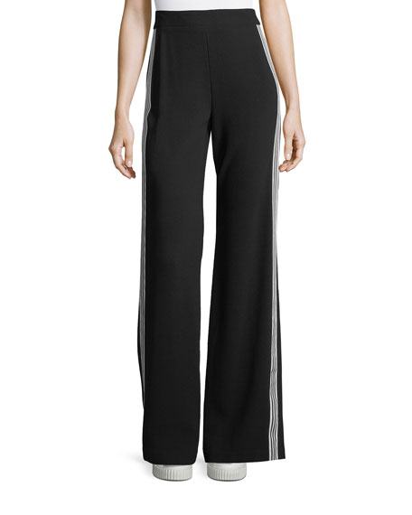 Bonita Side-Stripe Back-Zip Pants