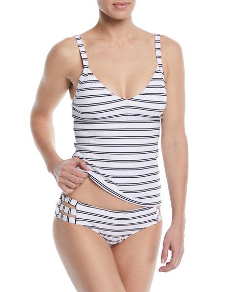 Inka Striped Singlet Tankini Swim Top
