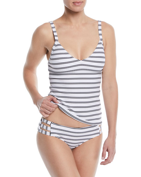 Inka Striped Strappy Swim Bikini Bottoms