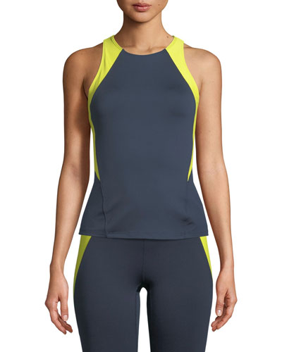 Olympic Racerback Performance Tank with Colorblock Panels