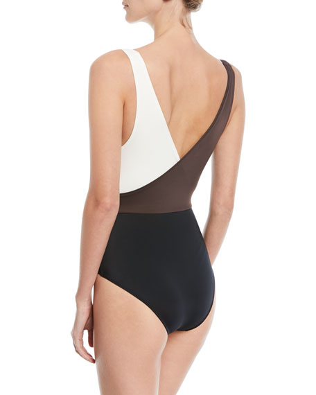 The Ballerina Colorblocked One-Piece Swimsuit