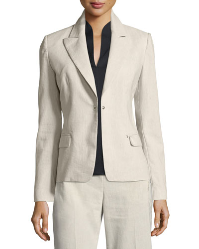 Ava Fitted One-Button Blazer