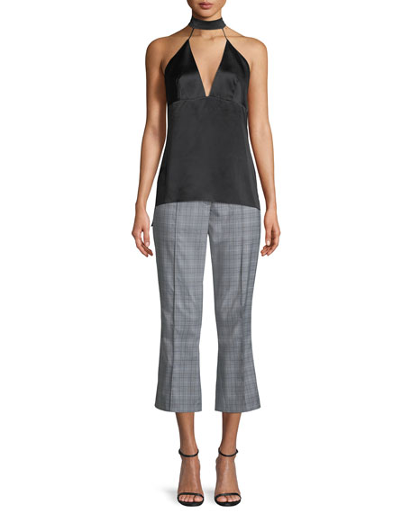 Lisa Glen Plaid Cropped Pants