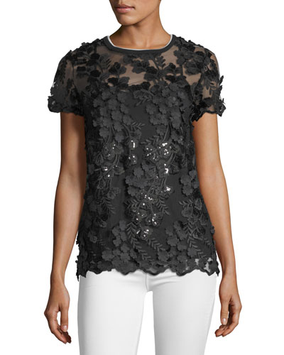 Val Floral Sheer Blouse