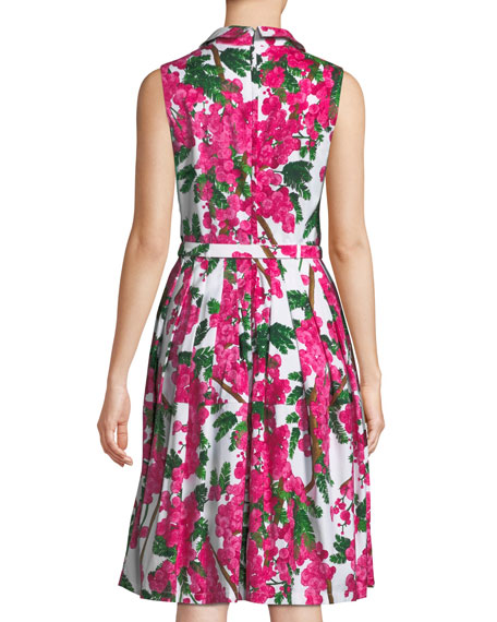 Claire Floral-Print Shirtdress