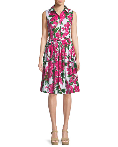 Claire Floral-Print Shirtdress