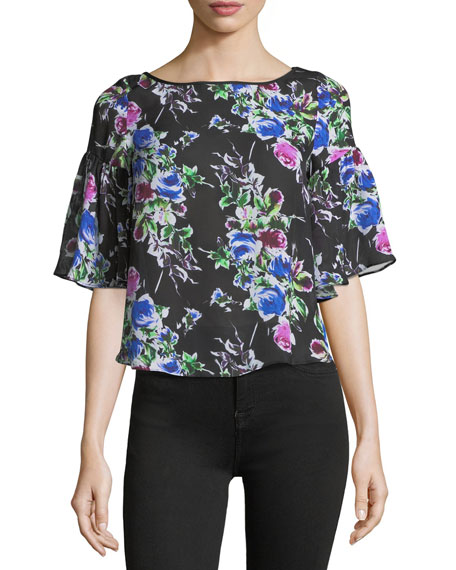 Marni Rose-Print Georgette Top