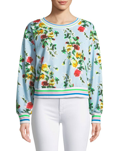 Tyler Rose-Print French Terry Sweatshirt