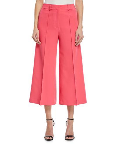 Hayden Flare-Leg Crop Trousers