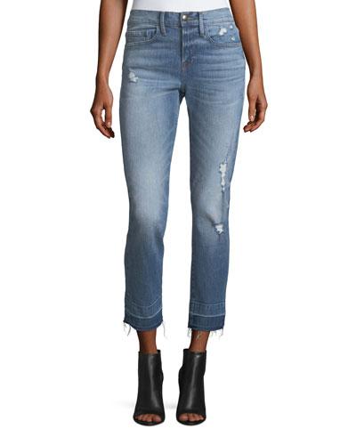 Le Boy Straight-Leg Wide Release Jeans