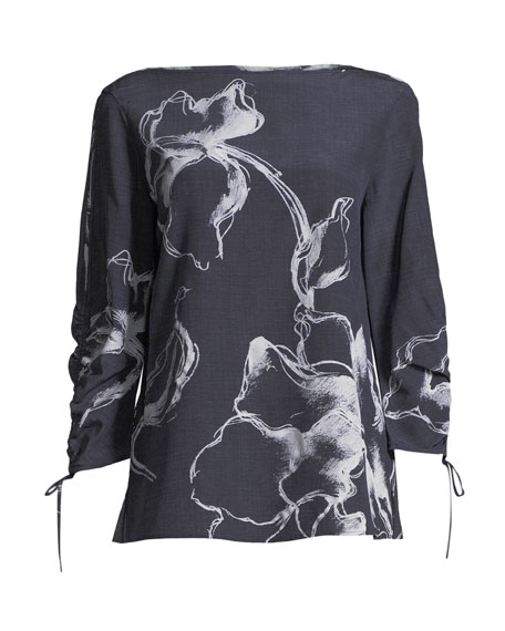Georgina Desert Bloom Silk Blouse