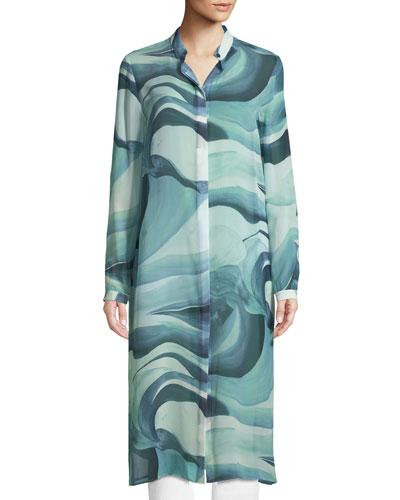 Auden Rio Chama Silk Duster Coat
