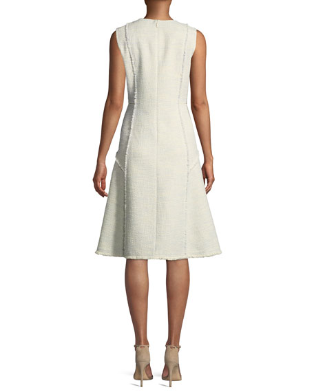 Adrienne Morning Dew Tweed Dress