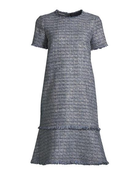 Saria Exhibition-Tweed Shift Dress