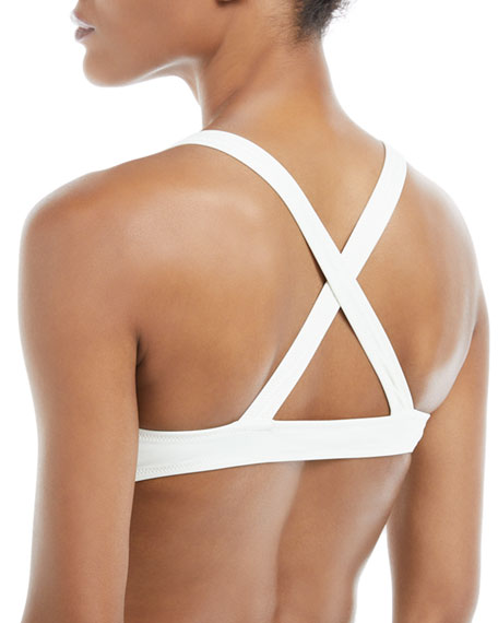 Josephine Cross-Back Solid Swim Top