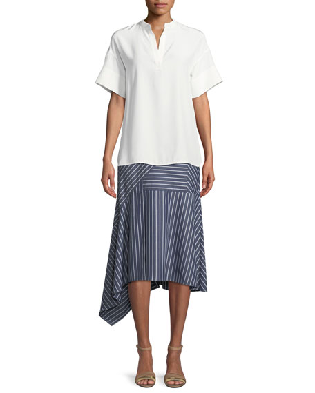 Tori Imperial Stripes Skirt