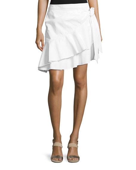 Tous Les Jours Anson Flared Denim Skirt