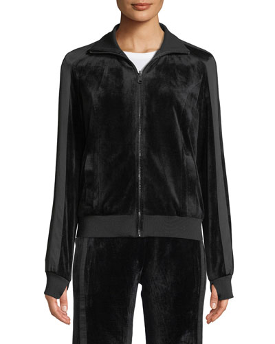 Zip-Front Reversible Posh Track Jacket