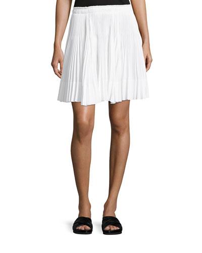 Multi-Pleated Short Skirt