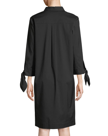 Talia Stretch-Cotton Dress