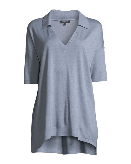 Cashmere-Blend Relaxed Modern-Fit Polo Shirt