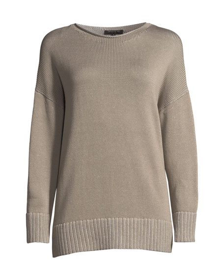 Vanise Cotton-Silk Relaxed Sweater