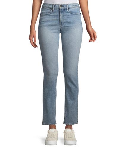 High-Rise Slim Cigarette Jeans