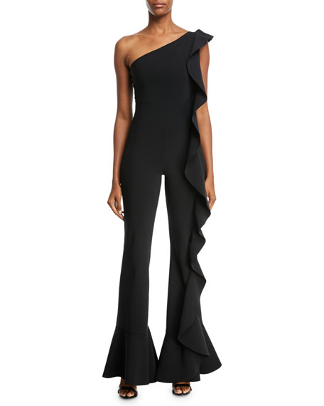 Dada One-Shoulder Ruffle Jumpsuit