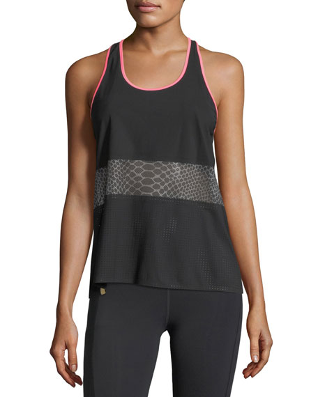 Scoop-Neck Racerback Mesh Tank