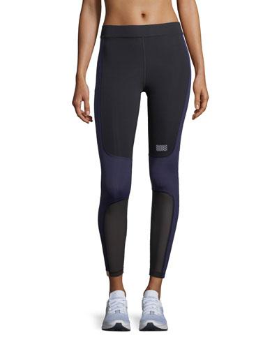 Sprinter Full-Length Colorblocked Leggings with Mesh