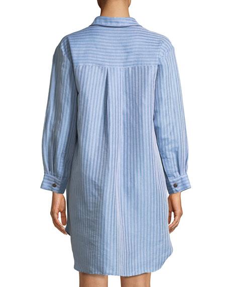 Bennett Button-Front Striped Coverup Shirt