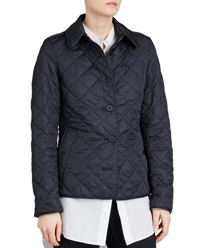 Frankby Quilted Jacket  Navy