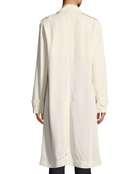 e5630c3370 Theory Oaklane WS Belted Rosina Crepe Trench Coat