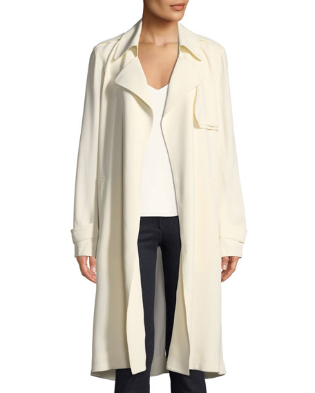 ae3fcc2fcd Theory Oaklane WS Belted Rosina Crepe Trench Coat