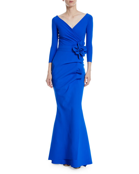 Madalina V-Neck Floral Mermaid Dress