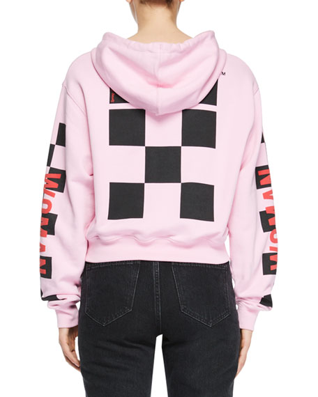 Taxi Cropped Oversized Hooded Sweatshirt