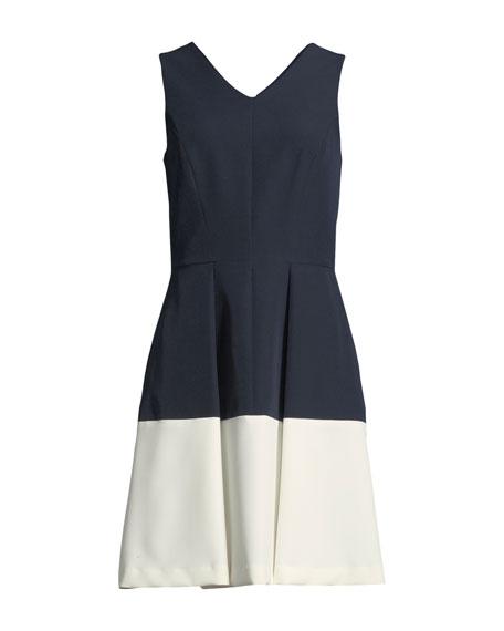 Jan V-Neck Colorblock Mini Dress